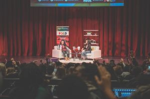 FOLD Festival 2019. Angie Thomas and Amanda Parris. Photo by Christina De-Melo