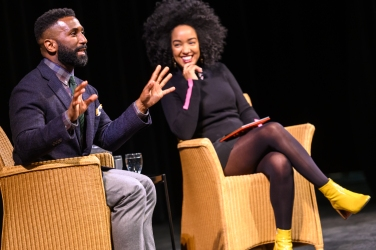 Koffler Talks 2019. Wesley Morris and Amanda Parris. Photo by Dahlia Katz.