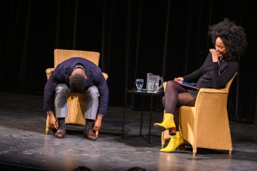 Koffler Talks 2019. Wesley Morris and Amanda Parris. Photo by Dahlia Katz.